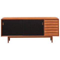 1960s Brown Teak Sideboard by Arne Vodder 'E'