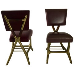 Gio Ponti and Giulio Minoletti, Pair of Chairs, Prod. Breda, Italy