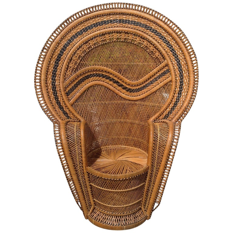 Dramatic Peacock Chair For Sale
