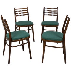 Set of Four Midcentury Dining Chairs by Interier Praha, 1970, Czechoslovakia