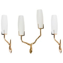1960s Set of Gilded Bronze Arlus Sconces