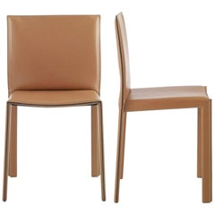 Modern Italian Leather Chair, made in Italy, In stock