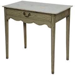 English 18th Century George III Painted Side Table, circa 1780