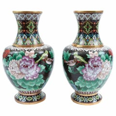Mid-20th Century Pair of Colorful Decorative Pieces / Vases
