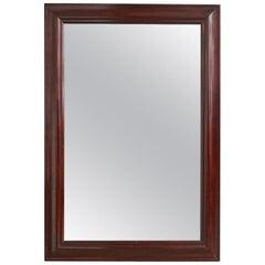 French 19th Century Mahogany Framed Mirror