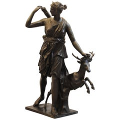 Large Bronze of Diana the Huntress