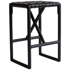 Montgomery Leather and Solid Wood Bar Stool and Counter Stool