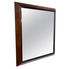 Large Mid-Century Modern Rosewood Framed Mirror