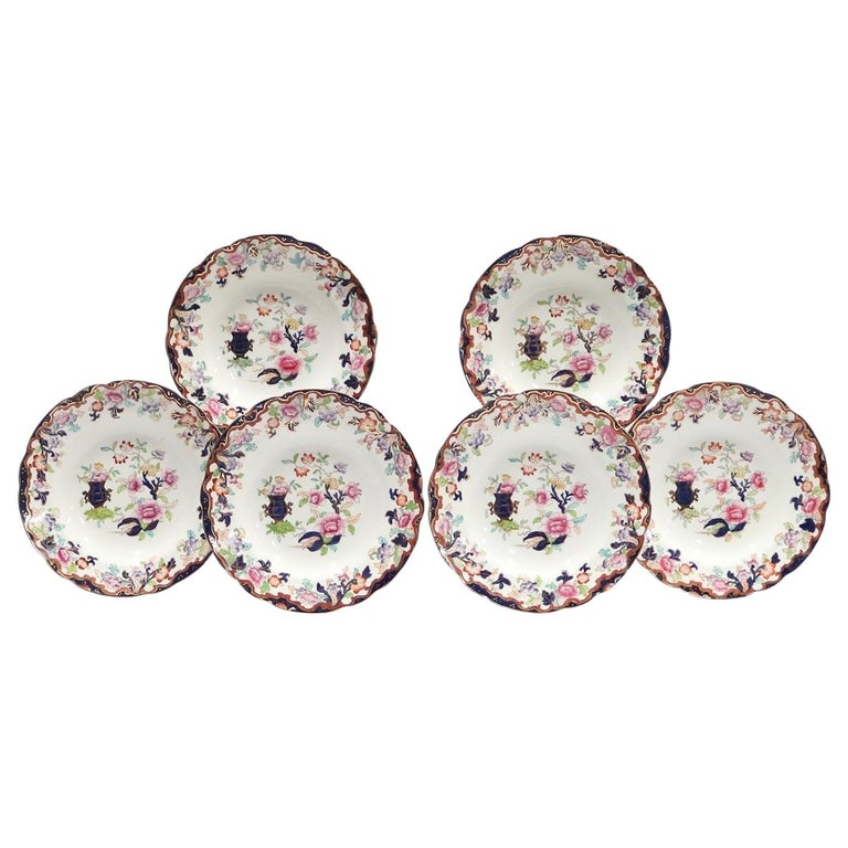 Ridgway English Ironstone Chinoiserie Plates with Simlay Pattern For Sale