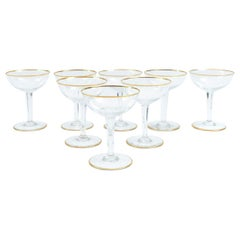 Vintage Baccarat Crystal Barware Champagne Coupe Service for Eight People