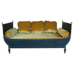 French Neoclassical Style Sleigh Bed