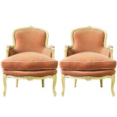 Early 20th Century French Pair of Louis XV Style Bergeres