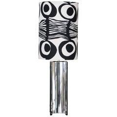 Pierre Cardin for Gaetano Sciolari Chrome Table Lamp, Italy, 1970s