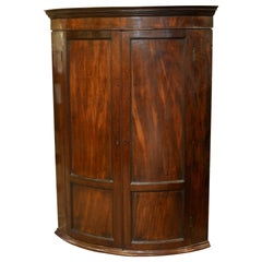 George III Bow Fronted Corner Cupboard