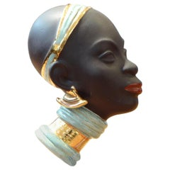 Goldscheider 1950s, Profile Africanist Depicting a Young Woman