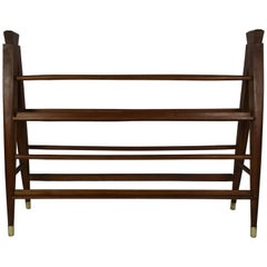 Vintage Two Sided Dutch Decorative Wooden Book Stand or Display Rack