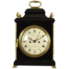 Verge Bracket Clock Enamel Dial, Martin, London