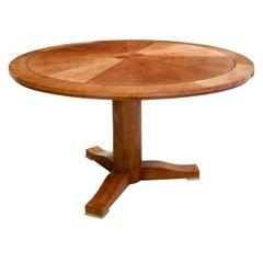 "Karl Springer Exceptional ""Regency Table"" in Anigre, 1980s"