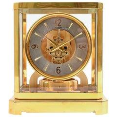 Case Glass / Brass Jaeger Le Coultre Mantel / Desk Clock