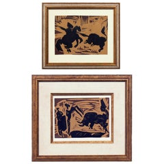 Selection of Pablo Picasso Linocuts