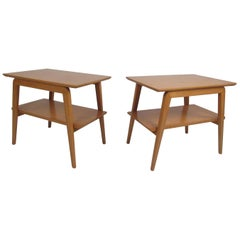 Pair of Midcentury Heywood Wakefield Style End Tables