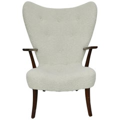1960 Fritz Hansen Wing Chair in Alpaca