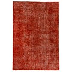 Vintage Red Overdyed Carpet