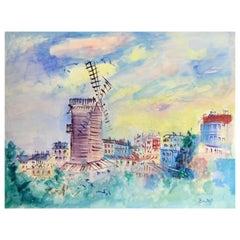 Le Moulin de la Galette by Jean Dufy, Signed LL