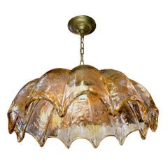 Italian Blown Glass Light Fixture by Mazzega