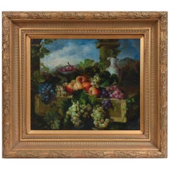 Giltwood Carved Frame Artwork Oil Painting Still Life