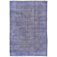 Bright Purple Overdyed Carpet
