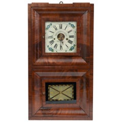 Early 19th Century American Bristol Walnut Case Wall Clock
