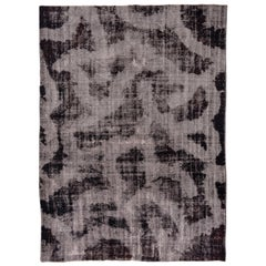 Black and White Distressed Overdyed Carpet