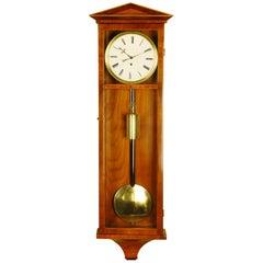 Satinwood Dachluhr Vienna Regulator Wall Clock