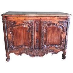 18th C. French Provencal 'Arlesienne' Credence in Walnut Antiques Los Angeles CA