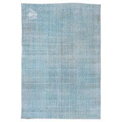 Vintage Overdyed Carpet, Aqua