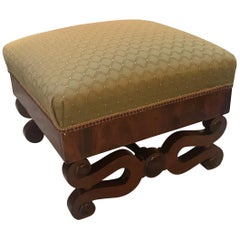 Early 19th Century American Empire Mahogany Bench Ottoman