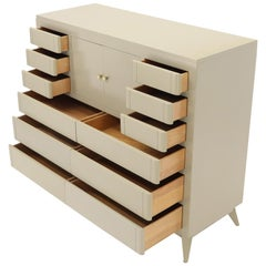 Multiple 12 Drawers Two Door Compartment Cube Shape High Wide Chest Dresser