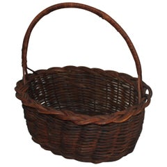 19th Century Basket with Handle from Pennsylvania
