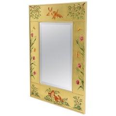 Reverse Painted Gold Leaf Rectangular Frame Decorative Mirro