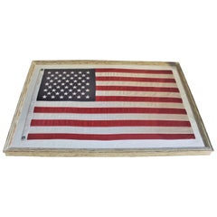 American Flag in New Painted Frame