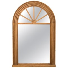Early 20th Century Round Arch Pine Mirror