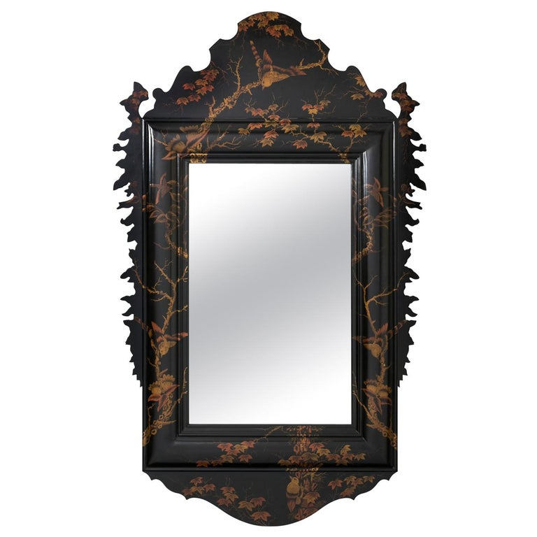 20th Century Japanned Mirror For Sale