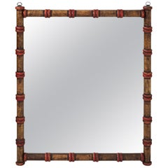 Early 20th Century Rustic Spool Mirror
