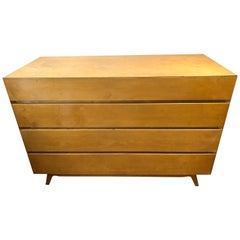 Pair of Golden Birch Mid-Century Modern Swedish Commodes