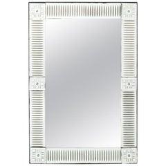 White Painted Venetian Style Mirror