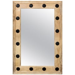 Wood and Horn Rectangular Mirror