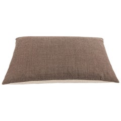 Italian Cream and Putty Cashmere Lumbar Pillow