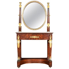 French Ormolu Mounted Empire Dressing Table