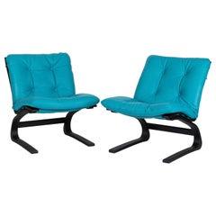Pair of Kengu Siesta Chairs, Elsa and Nordahl Solheim for Rybo Rykken, Norway